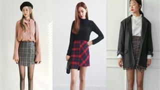 Chân váy chữ A caro và 1001 cách phối đồ giúp bạn nữ đa dạng hóa phong cách thời trang
