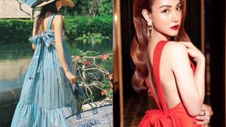 Học sao Việt cách chọn váy hở lưng - item đang cực hot mùa xuân 2020 này