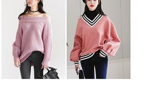 Cách phối đồ với áo len cổ rộng vừa đẹp vừa chất