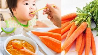 Khi nào nên bắt đầu cho trẻ ăn dặm bằng cà rốt